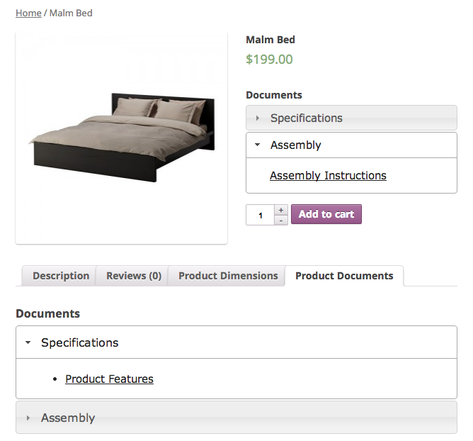 WooCommerce Product Documents Suggestions