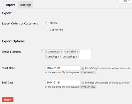 WooCommerce Customer / Order CSV Export Suite Export Tool