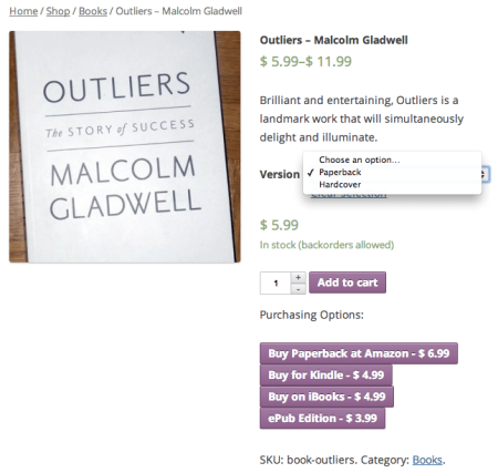 WooCommerce Product Retailers Button Display