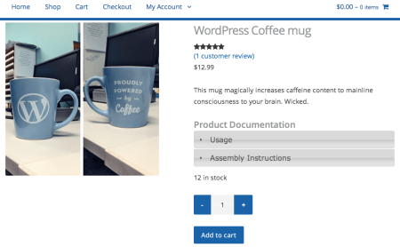 WooCommerce Product Documents Accordion