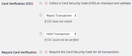 WooCommerce Moneris CSC Check Rules