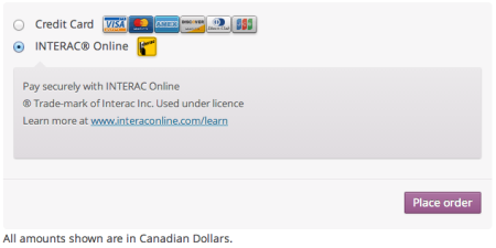 WooCommerce Moneris Interac