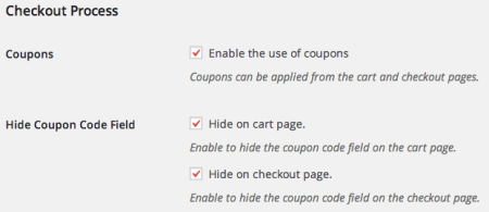 WooCommerce URL coupons hide coupon options
