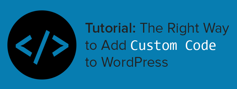 Add Custom Code to WordPress