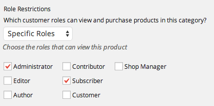 Category visibility