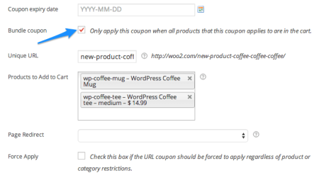 WooCommerce automatic coupon | URL Bundle Coupon