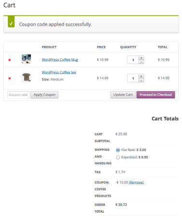 WooCommerce automatic coupon | URL Coupon Applied