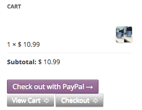 WooCommerce PayPal Express Mini Cart