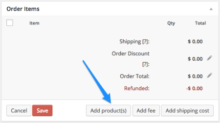 WooCommerce Add Products to Order
