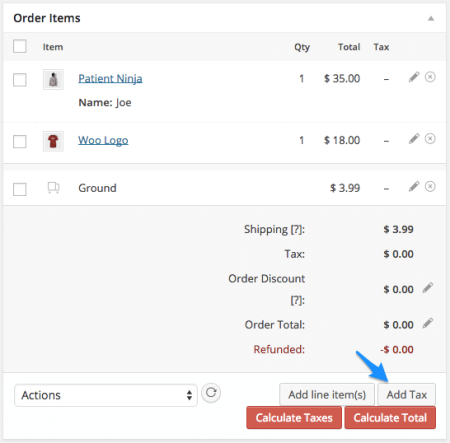 WooCommerce Add Taxes