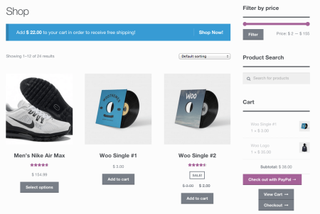 WooCommerce Cart Notices | shop notice