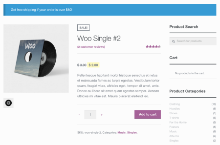 WooCommerce Empty Cart Notice | Product