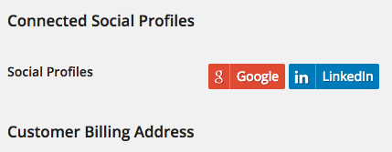 WooCommerce Social Login user profile