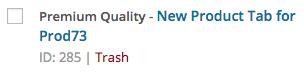 WooCommerce product tab id
