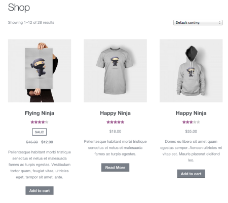 WooCommerce Display short descriptions on shop pages