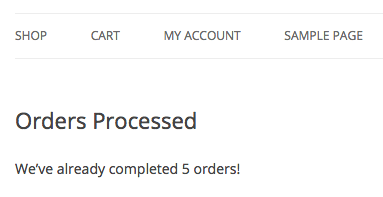 woocommerce order count display