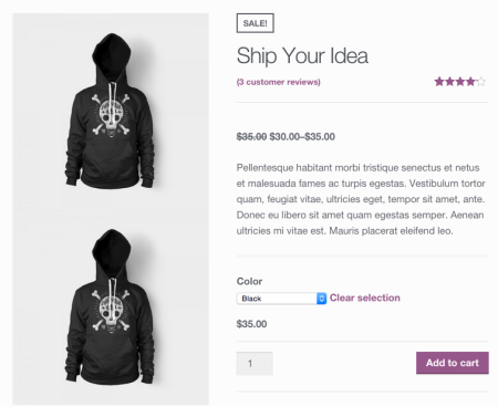 WooCommerce add logo before product images 1