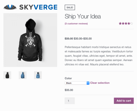 WooCommerce add logo before product images 2