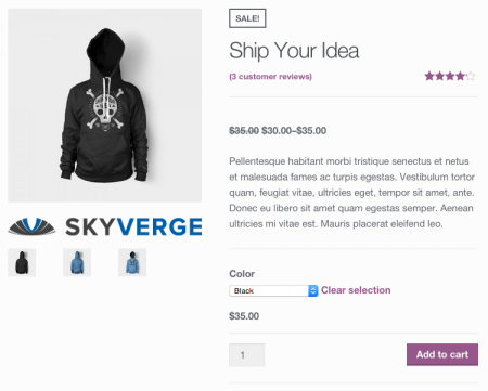 WooCommerce add logo below product featured image