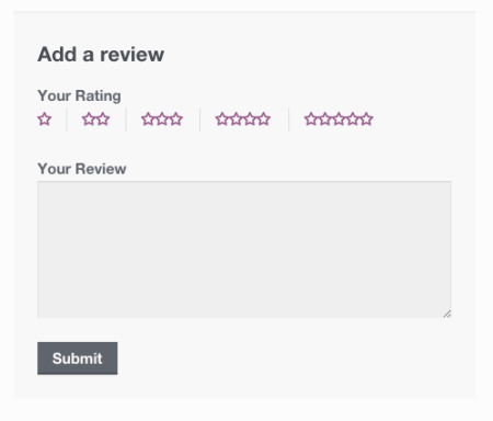WooCommerce review form logged in