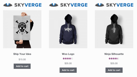 WooCommerce add logo above shop image