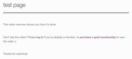 WooCommerce Memberships nonmember shortcode