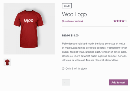 WooCommerce sales flash