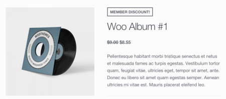 WooCommerce Memberships member discount display
