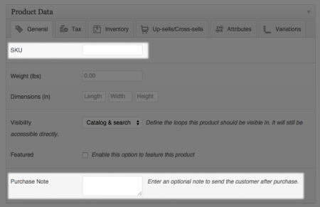 WooCommerce 1.5 Product tweaks