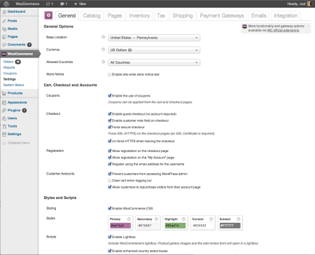 WooCommerce 2.0 Settings