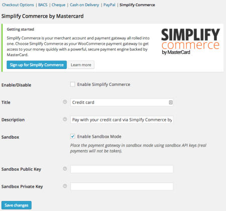 WooCommerce 2.2 Simplify commerce gateway