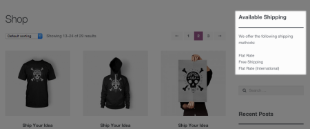 WooCommerce Widget Displayed