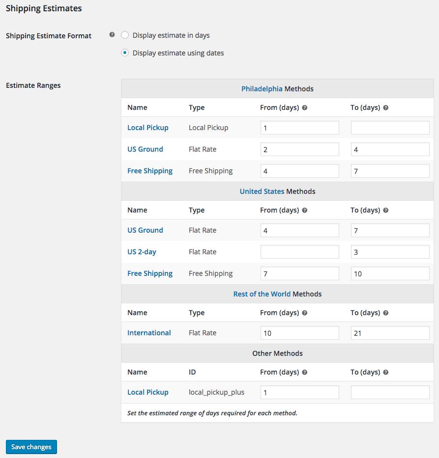 WooCommerce Shipping Estimate - SkyVerge