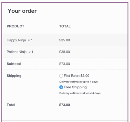 WooCommerce Shipping Estimate open-ended estimates