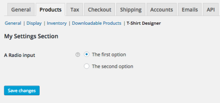 WooCommerce New Setting section