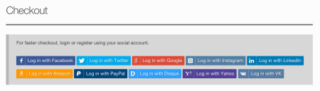 WooCommerce Social Login providers