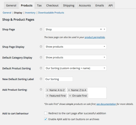 WooCommerce Updated Products settings