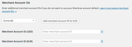 WooCommerce Braintree multicurrency support