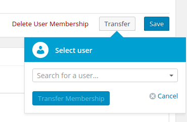 Transfer User Memberships in Admin