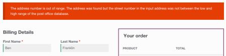 WooCommerce Avatax address validation