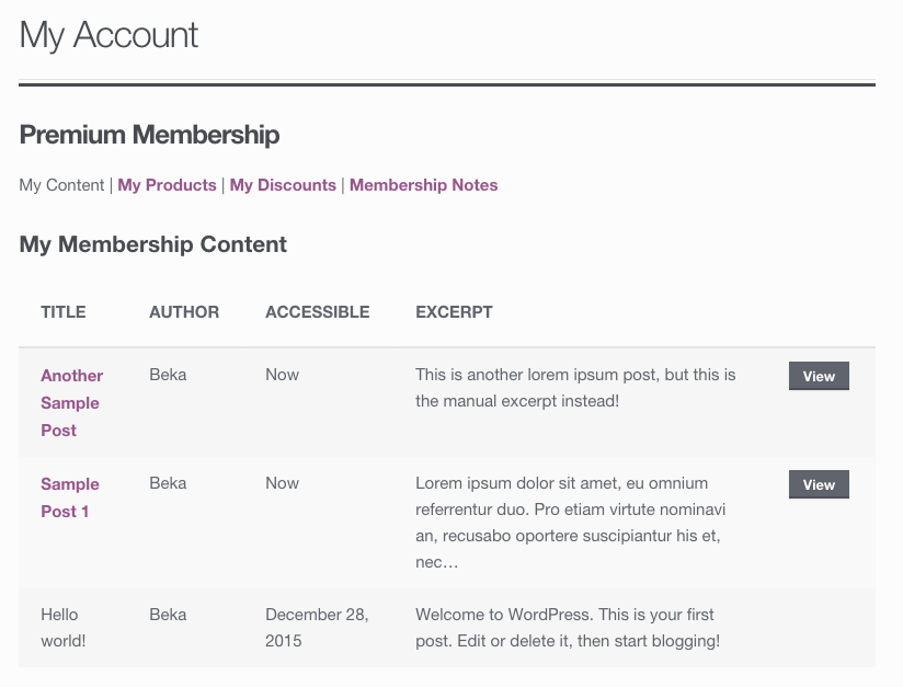 Modifying the WooCommerce Memberships Member Area - SkyVerge