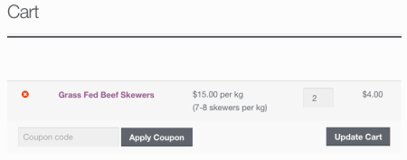 WooCommerce price display: cart price changed