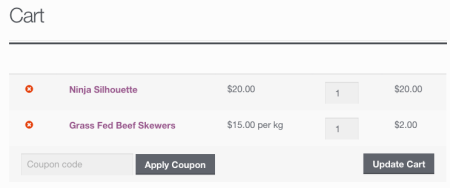 WooCommerce price display: cart using custom fields for price