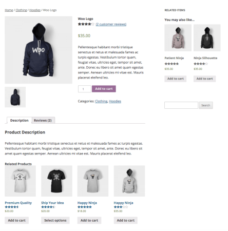 WooCommerce Upsells in widget
