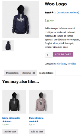 WooCommerce upsells shortcode used