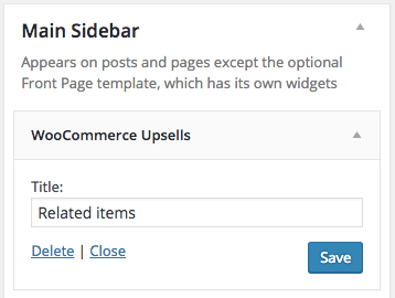 WooCommerce Upsells widget