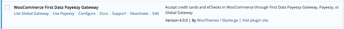 WooCommerce First Data Select Gateway Mode