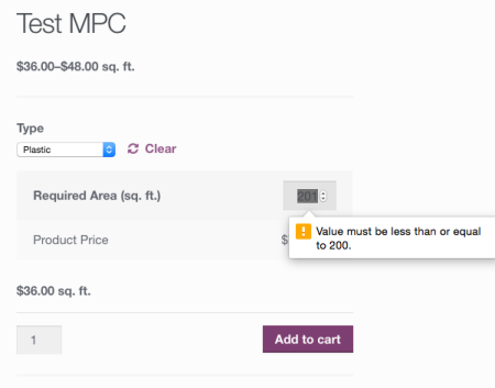 WooCommerce Measurement Price Calculator Limits enabled