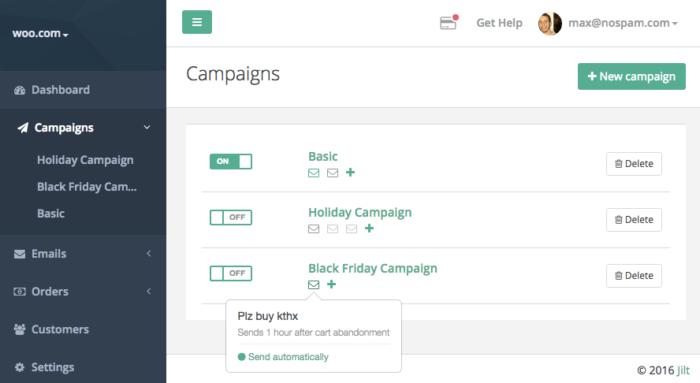 Jilt app campaigns