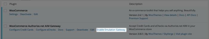 WooCommerce Authorize.net AIM enable emulator